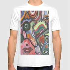 Crazy life MEDIUM White Mens Fitted Tee