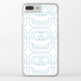 Symbolic art indigo maya Clear iPhone Case