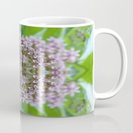 Kaleidoscope Pink Milkweed Flower Macro Photograph Coffee Mug