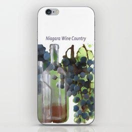 niagara wine country / grapes  / digital painting iPhone Skin