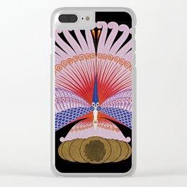 """Art Deco Design """"Phoenix Triumphant"""" by Erté Clear iPhone Case"""