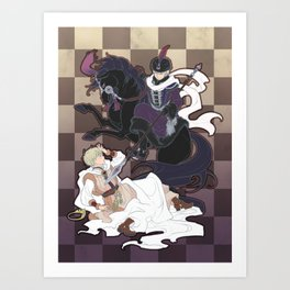 The Game of Checkmate Art Print