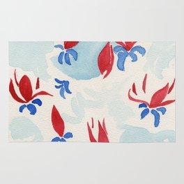 Magnolias in red Rug