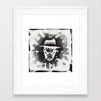 rorschach Framed Art Prints featuring Rorschach by Vickn
