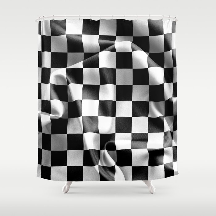 Chequered Flag Shower Curtain