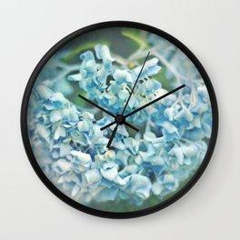 Thirsty Hydrangea Wall Clock