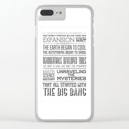 TBBT Intro Song Clear iPhone Case