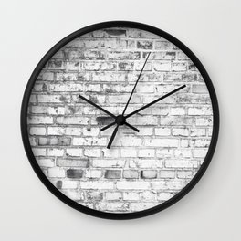 Withe brick wall Wall Clock