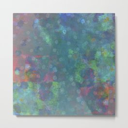Blue and green abstract painting Metal Print