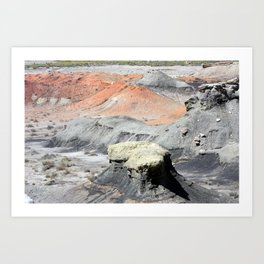 Color In The Badlands Art Print