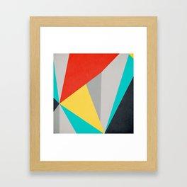 Aggressive Color Block Framed Art Print