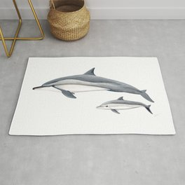 Long-beaked dolphin and baby Rug