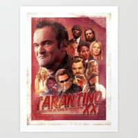 quentin tarantino Art Prints featuring Tarantino by turksworks