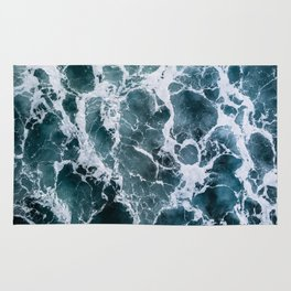Minimalistic Veins in a Wave  - Seascape Photography Rug