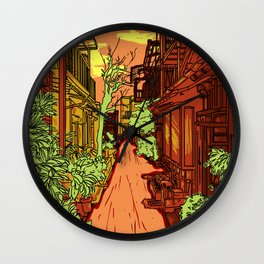 Japanese Alley Wall Clock