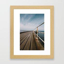 Seaside Walkway Framed Art Print