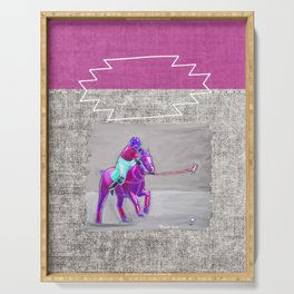 poloplayer grey-mauve Serving Tray