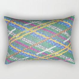 Mosaic Green Plaid Rectangular Pillow