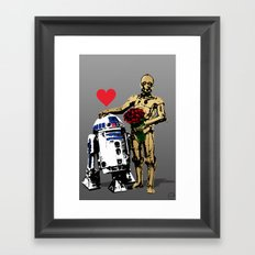 Secret Lovers Framed Art Print