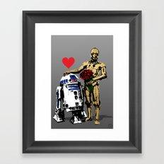 Secret Lovers Framed Art Print