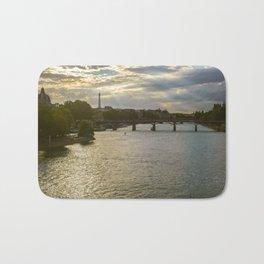 River Seine at Dusk Bath Mat