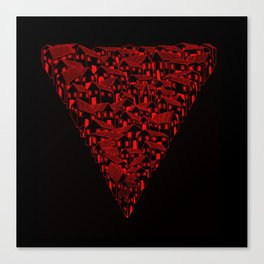 Huesca in red and black Canvas Print