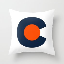 Colorado Logo - Broncos Throw Pillow