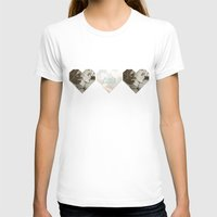 jessica lange T-shirts featuring Jessica Lange Heart by NameGame