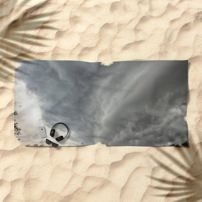 Cloud Wall Turning Beach Towel