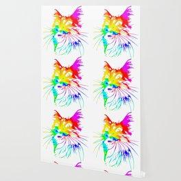 tie dye cat splash art Wallpaper