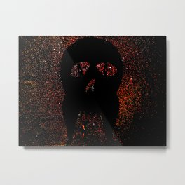 """Fangs"" Red Metal Print"