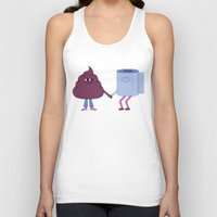 toilet Tank Tops featuring SBF: Poop & Toilet Paper by Mauro Gatti
