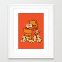 army Framed Art Prints featuring The Original Copycat by Picomodi