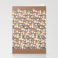 willy wonka Stationery Cards featuring Willy Wonka Pattern by Ricky Kwong