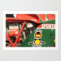 ducati Art Prints featuring Ducati Motor by Internal Combustion