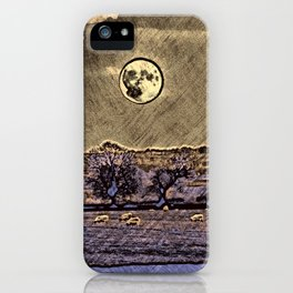 Moon over Debdale iPhone Case