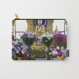 Buddha Shrine a Kuthodaw Pagoda, Myanmar Carry-All Pouch