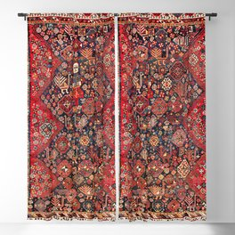 Qashqa'i Fars Southwest Persian Nomad Rug Print Blackout Curtain