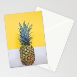 Pineapple on Yellow Stationery Cards