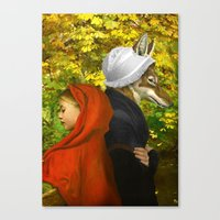 red riding hood Canvas Prints featuring Red Riding Hood by Diogo Verissimo