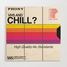 VHS and Chill Wood Wall Art