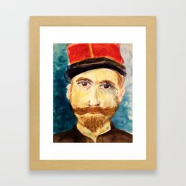 Solo Soldier Framed Art Print