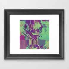 Glitchy 1 Framed Art Print