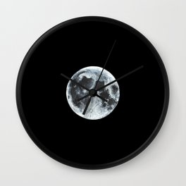 Full Moon Painting Wall Clock