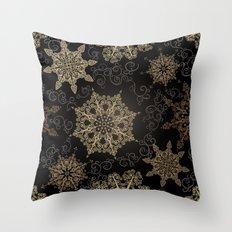 Elegant Christmas (Black) Throw Pillow