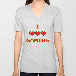 I Love Gaming Unisex V-Neck