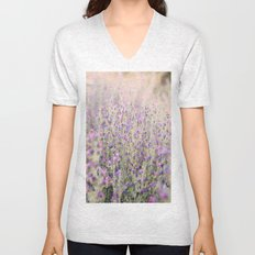 Purple flowers Unisex V-Neck