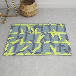 trapezoids grid pattern_pigeon Rug