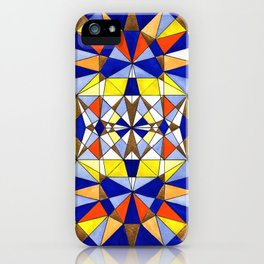 Geometric art buzz iPhone Case