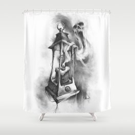 The Black Candle Shower Curtain